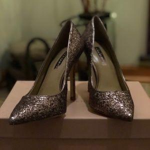 BCBGeneration Matte Bronze Glitter Heel - Sz. 5.5